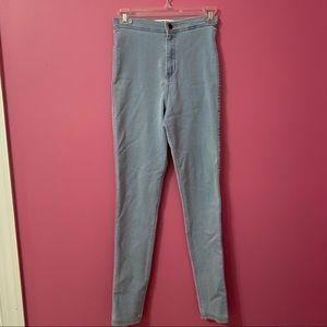 American Apparel Blue Skinny Jeans